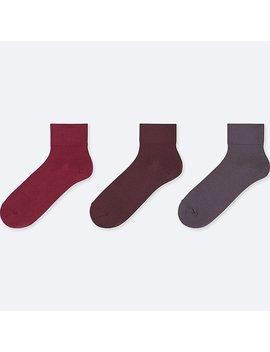 Women Taper Crew Socks (3 Pairs) by Uniqlo