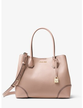 Mercer Gallery Medium Pebbled Leather Satchel by Michael Michael Kors
