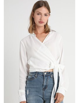 Wrap Over Tie Side Blouse   Bluzka by Missguided