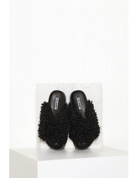 Fuzzy Slide Sandal by Chiquelle