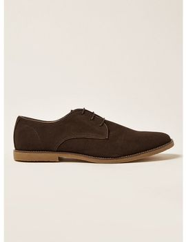 Brown Faux Suede Spark Desert Shoes by Topman
