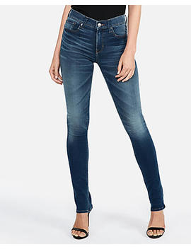 Mid Rise Medium Wash Extreme Stretch+ Skyscraper Jeans by Express