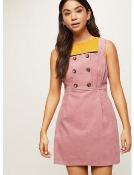 Petite Pink Chunky Cord Pinafore Dress by Miss Selfridge