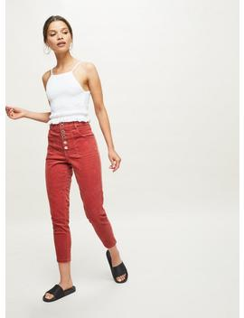 Petite Lizzie High Waist Skinny Pink Corduroy Jeans by Miss Selfridge