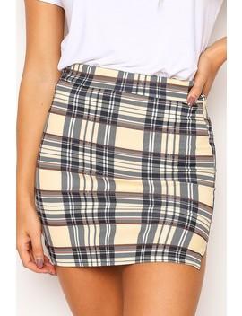 Yellow Tartan Mini Skirt by Lasula
