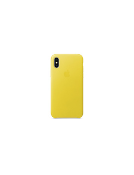 I PhoneX Leather Case— Spring Yellow by Apple