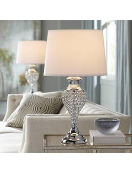 Glitz And Glam Polished Chrome Urn Table Lamps Set Of 2 by Lamps Plus