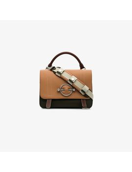 Nude, Brown And Green Disc Leather Satchel Bag by Jw Anderson
