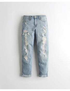 High Rise Mom Jeans Mit Vintage Stretch by Hollister