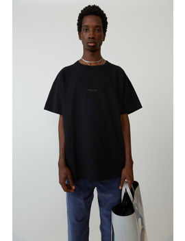 Garment Dyed T Shirt Black by Acne Studios