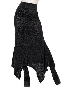 Genesis Burnout Velvet Maxi Skirt [B] by Killstar