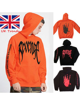 Revenge 'kill' Hoodie   Mens Black W/ Red Print   Xxx Tentacion Bad Vibes Forever by Ebay Seller