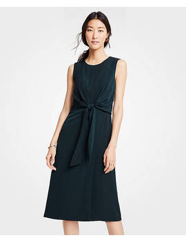 Tie Front Midi Dress by Ann Taylor