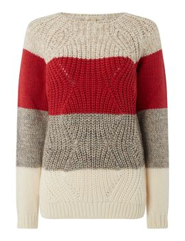 Padstow Chunky Knitted Stripe Jumper by Barbour