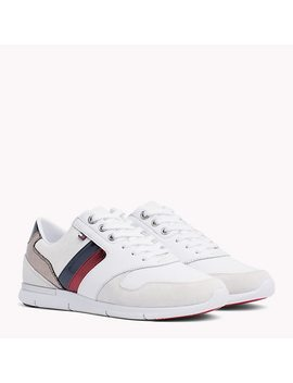 Colour Blocked Metallic Light Trainers by Tommy Hilfiger