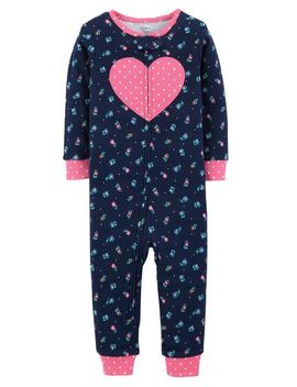 1 Piece Heart Snug Fit Cotton Footless P Js by Carter's