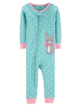 1 Piece Bunny Snug Fit Cotton Footless P Js by Carter's