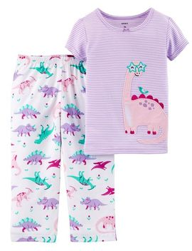 2 Piece Dinosaur Cotton & Poly P Js by Carter's