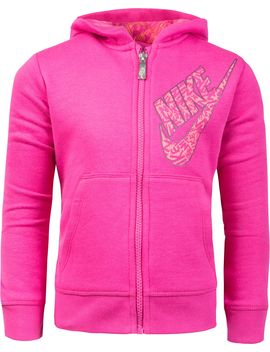 Nike Little Girls' Sportswear Club Full Zip Hoodie by Nike
