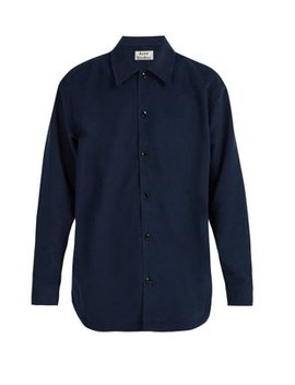 Military Brushed Cotton Blend Shirt by Acne Studios