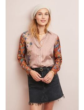 Castile Floral Silk Buttondown by Le Sarte Pettegole