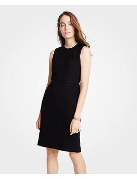 Petite Doubleweave Flounce Sheath Dress by Ann Taylor