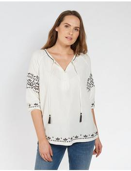 Fiona Peasant Blouse by Fat Face
