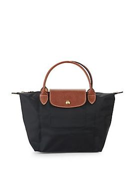 Collapsable Leather Trim Tote by Longchamp