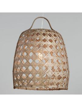 Woven Bamboo Cane Basket Pendant Shade With Rattan Handle by World Market