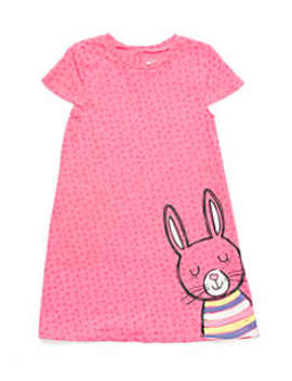 Girls 4 10 Short Sleeve Swing Dress by Lightning Bug