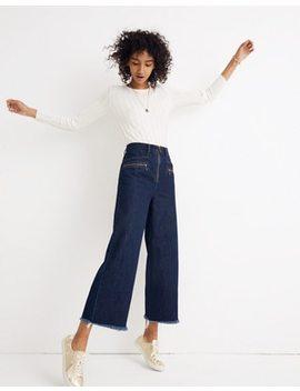 Madewell X Karen Walker® Blazar Zip Wide Leg Jeans by Madewell