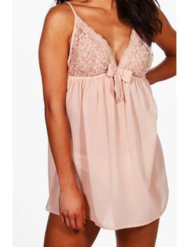 Lace & Bow Detail Babydoll by Boohoo