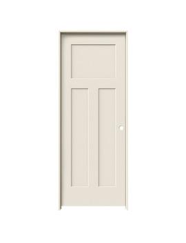 Jeld Wen Craftsman Primed 3 Panel Craftsman Solid Core Molded Composite Single Prehung Door (Common: 30 In X 80 In; Actual: 31.5625 In X 81.6875 In) by Lowe's