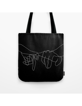 Black Pinky Swear Tote Bag by