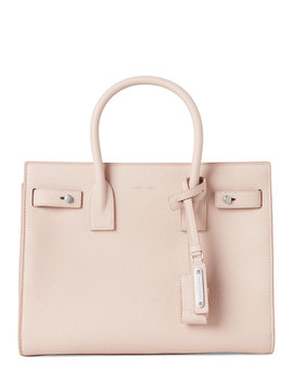 Marble Pink Baby Sac De Jour Leather Tote by Saint Laurent