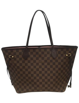 Neverfull Mm Rose Ballerine. Brown Damier Ebene Canvas Tote by Louis Vuitton