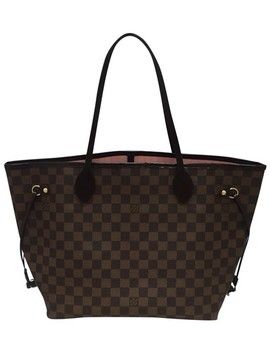 Neverfull Mm Rose Ballerine With Dustbag Brown Damier Ebene Canvas Tote by Louis Vuitton