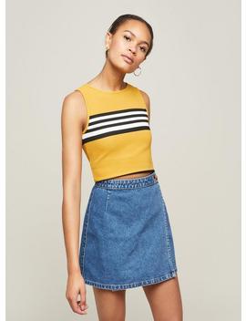 Wrap Over Denim Skirt by Miss Selfridge