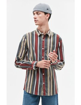 Vertical Stripe Button Up Shirt by Pac Sun