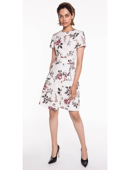 Floral Ottoman Wrap Front Dress by Cue