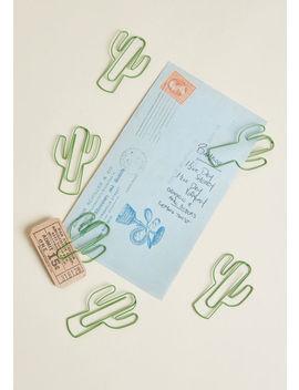 Sharp Focus Cactus Paper Clip Set by Modcloth