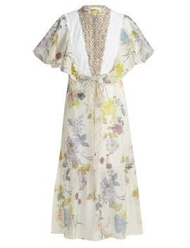 Floral And Geometric Print Chiffon Maxi Dress by See By Chloé