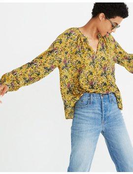 Madewell X Karen Walker® Silk Floral Gennaker Top by Madewell