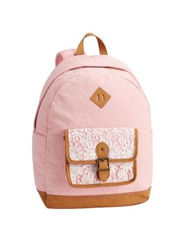 Northfield Soft Rose Lacey Backpack by P Bteen
