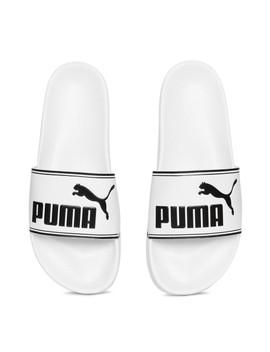 Puma Unisex White Leadcat Sliders by Puma