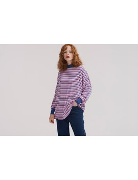 Lazy Oaf Stripey Eyes Long Sleeve T Shirt by Lazy Oaf