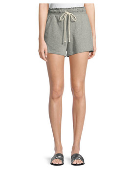 Russell Drawstring Cotton Shorts by A.L.C.