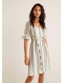 Randig Volangklänning by Mango