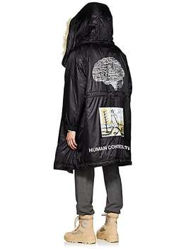 Graphic Faux Fur Trimmed Oversized Parka by Undercover