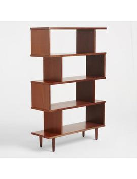 Tall Walnut Brown Wood Ashlyn Bookshelf by World Market